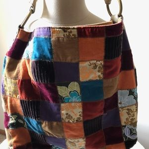 LUCKY BRAND PATCHWORK HOBO BAG-BRAND NEW